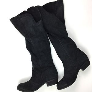 Naughty Monkey Black Suede Zip Up Boots